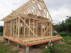 Каркасный дом 6×8 м с мансардой